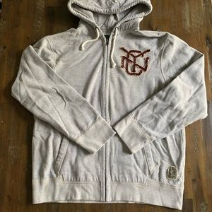 American Eagle NYC gray heavy zip up hoodie
